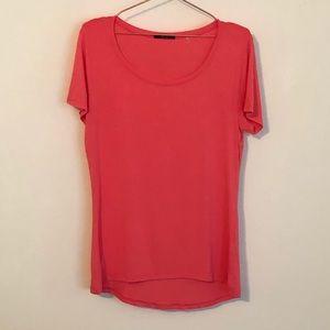 TAHARI Coral Pink Modal Spandex Top Tee T-Shirt